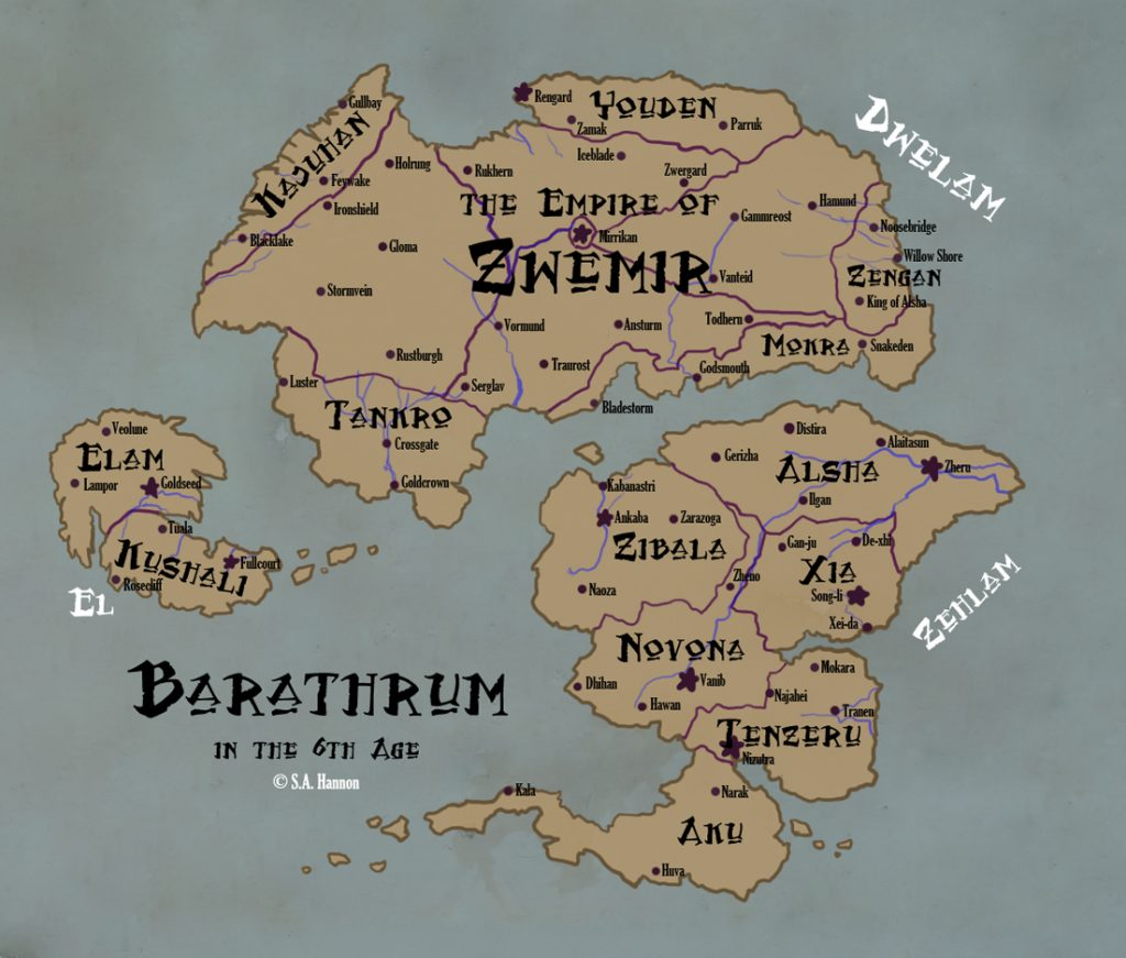 Barathrum map by S.A. Hannon
