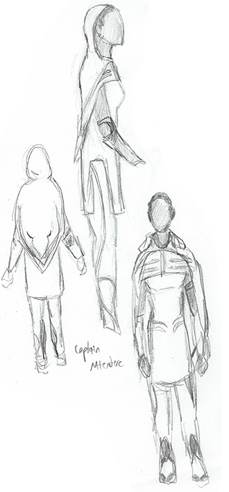 Captain costume design