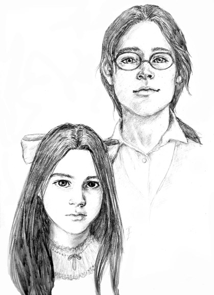 Djaren and Ellea portrait by Ruth Lampi
