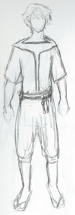 Crewman costume design